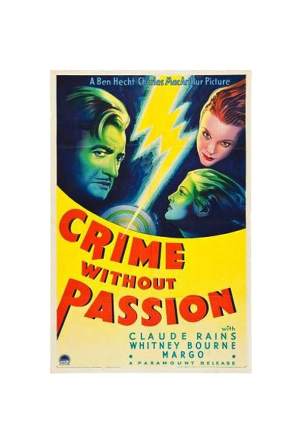 Crime Without Passion kapak