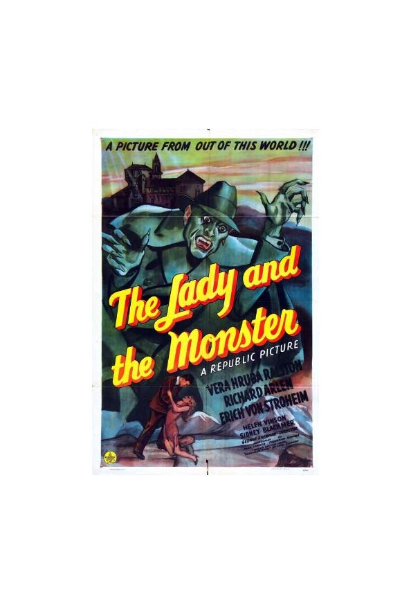 The Lady and the Monster kapak