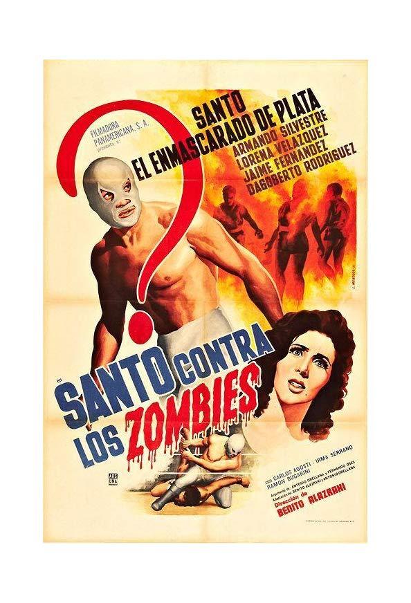 Santo contra los zombies kapak