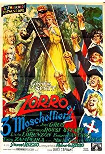 Zorro and the Three Musketeers kapak