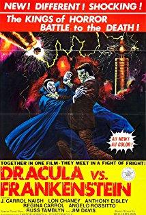 Dracula vs. Frankenstein kapak