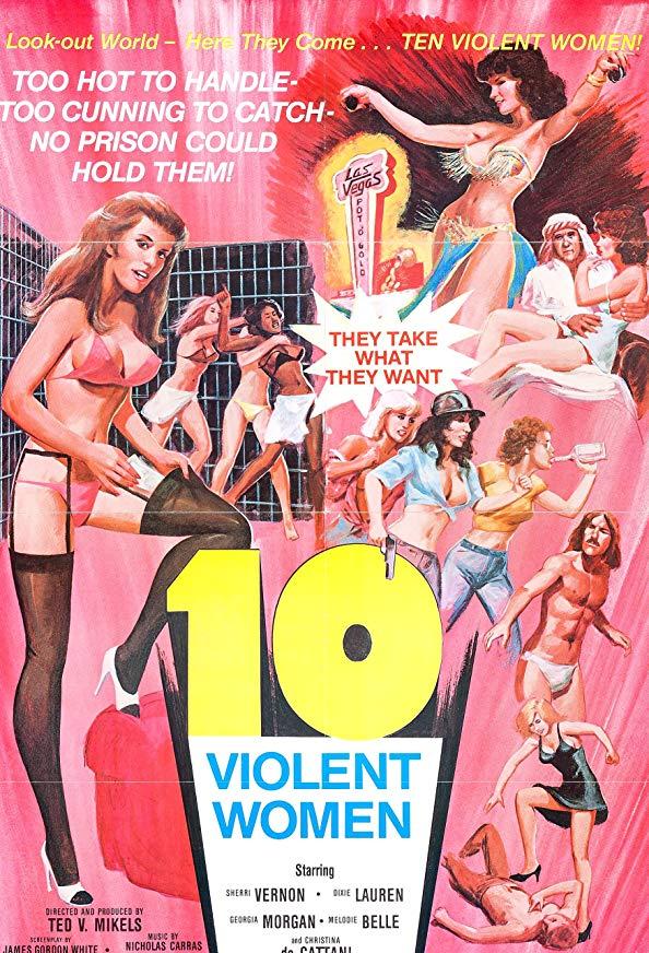 Ten Violent Women kapak