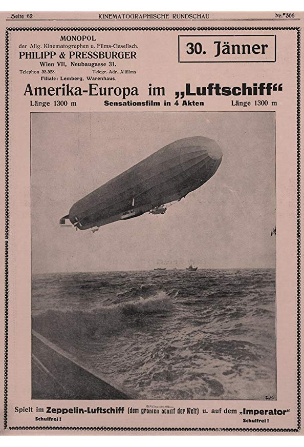 America to Europe in an Airship kapak