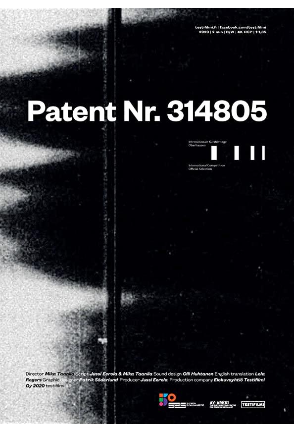 Patent Nr. 314805 kapak