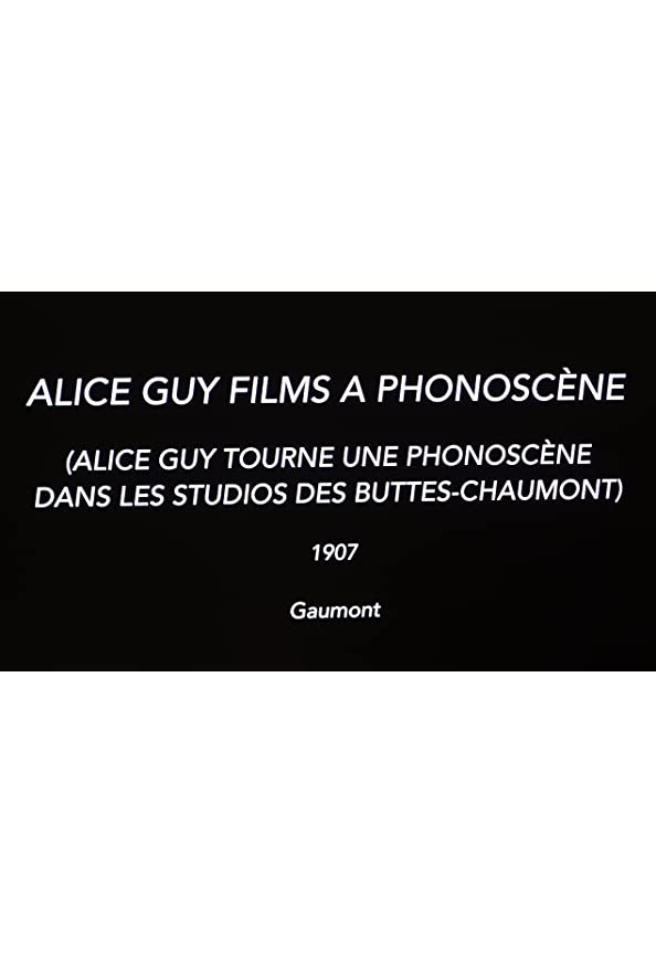 Alice Guy Films a 'Phonoscène' in the Studio at Buttes-Chaumont, Paris kapak
