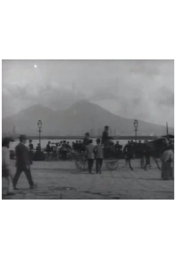 Naples, port et Vésuve kapak