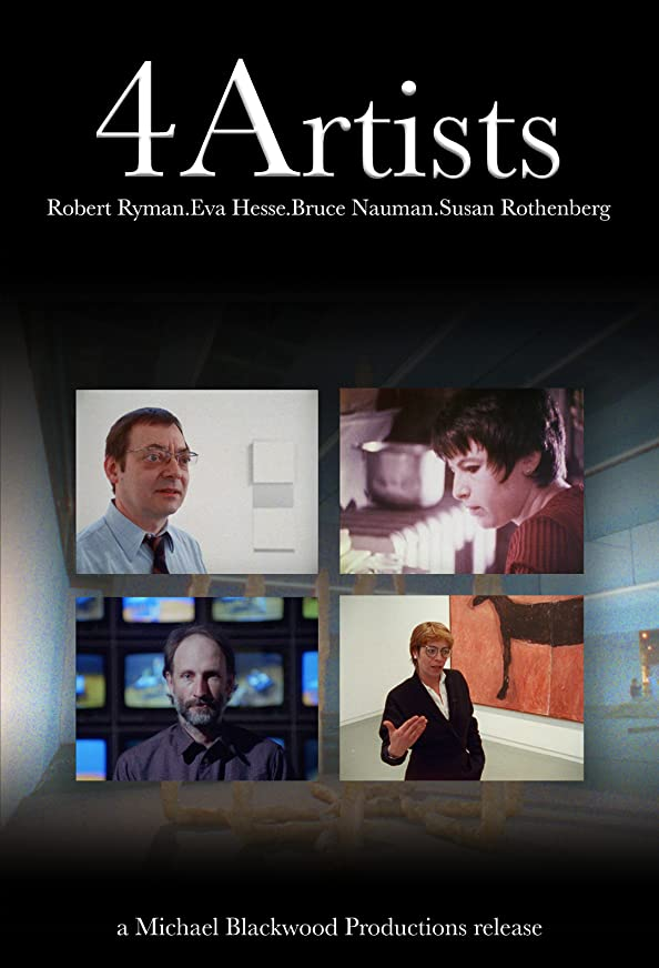 4 Artists: Robert Ryman, Eva Hesse, Bruce Nauman, Susan Rothenberg kapak