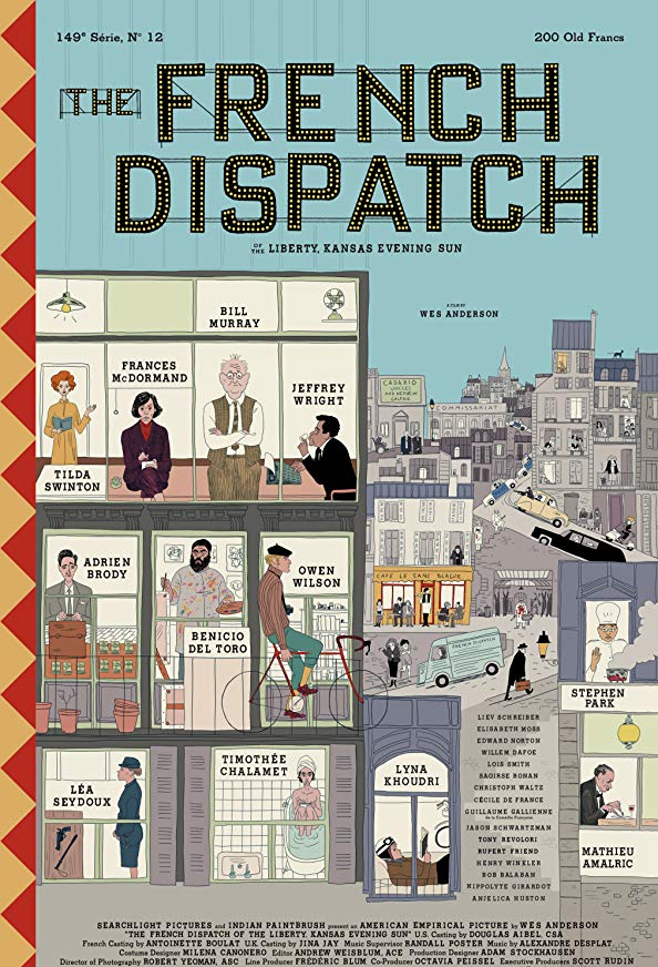 The French Dispatch kapak