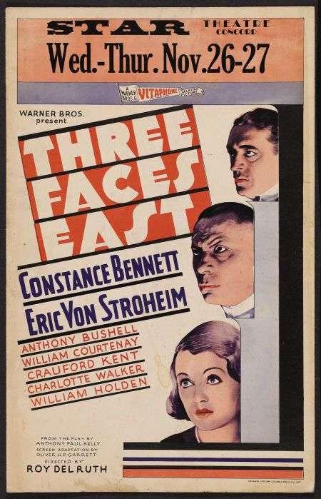 Three Faces East kapak