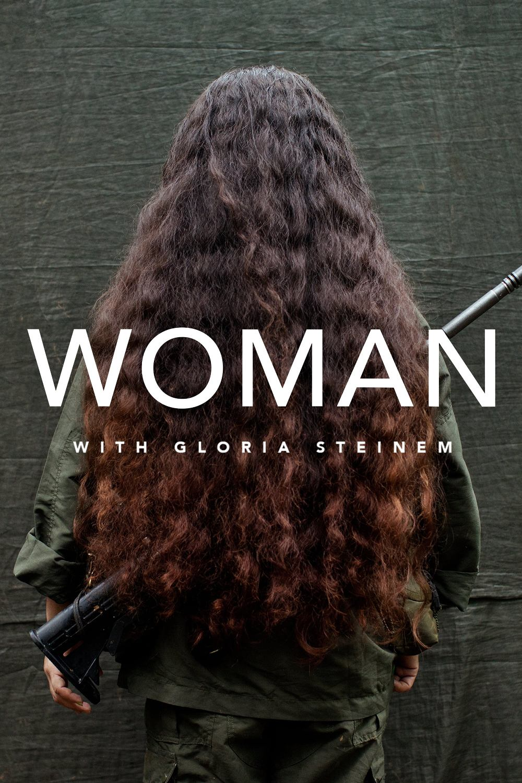 Woman with Gloria Steinem kapak