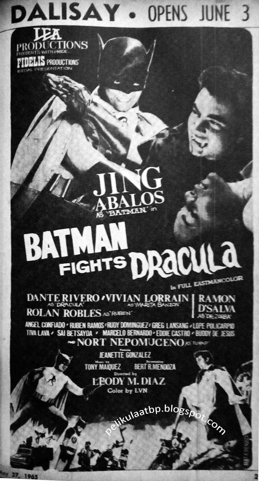 Batman Fights Dracula kapak