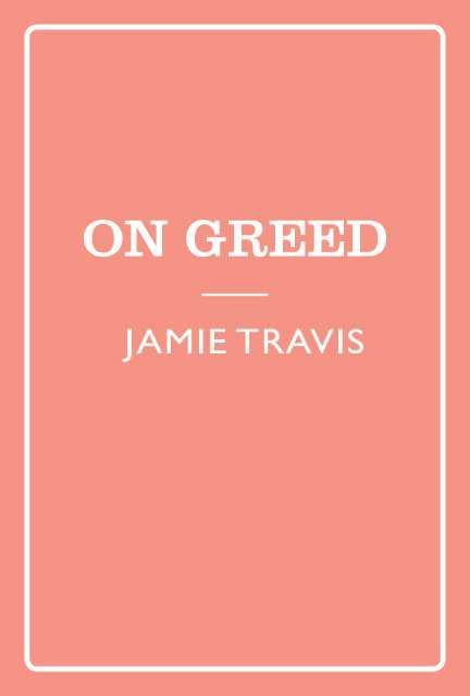 Seven Sins: Greed kapak