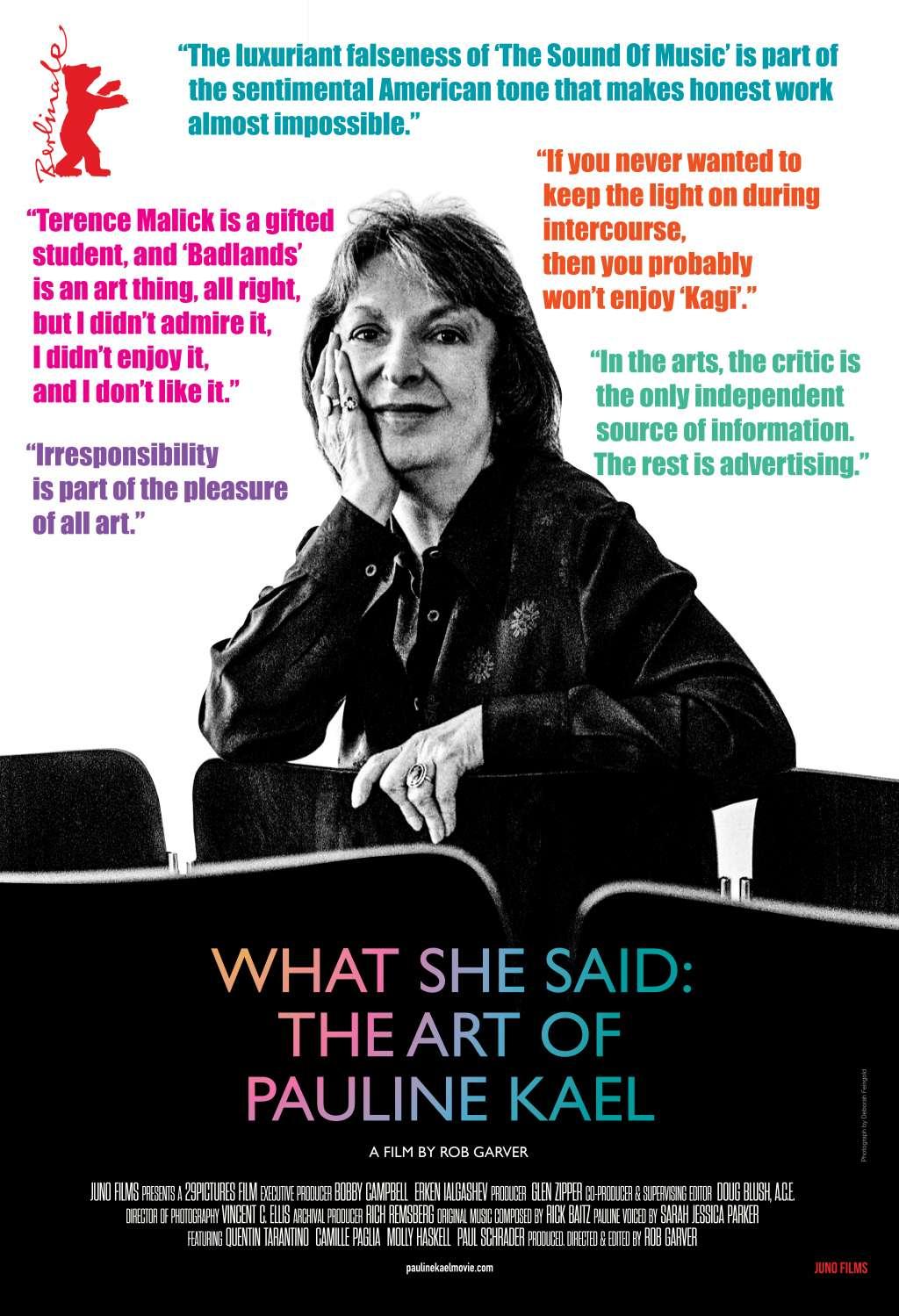 What She Said: The Art of Pauline Kael kapak
