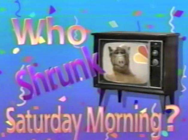 Who Shrunk Saturday Morning? kapak