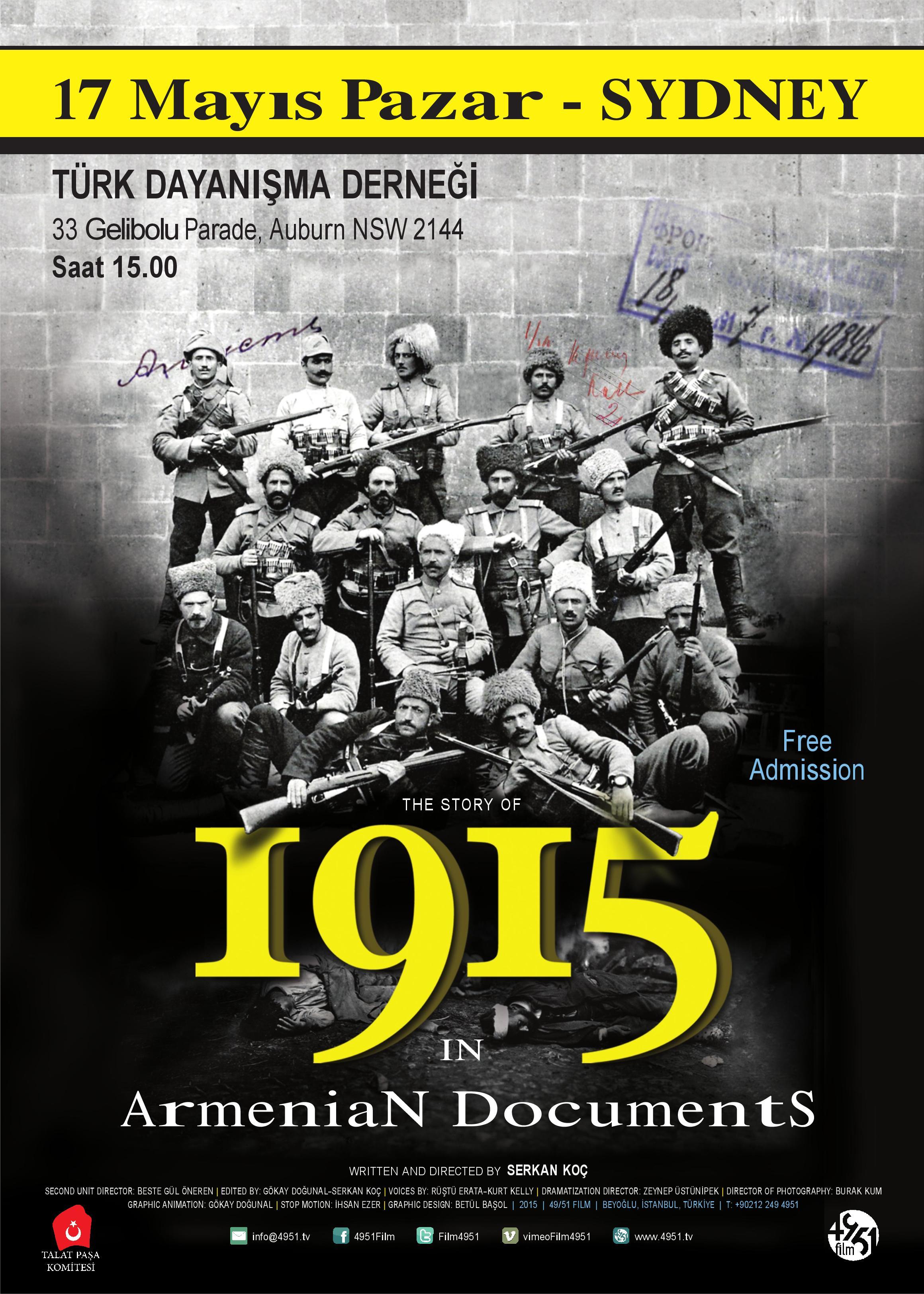Ermeni Belgeleriyle 1915 kapak