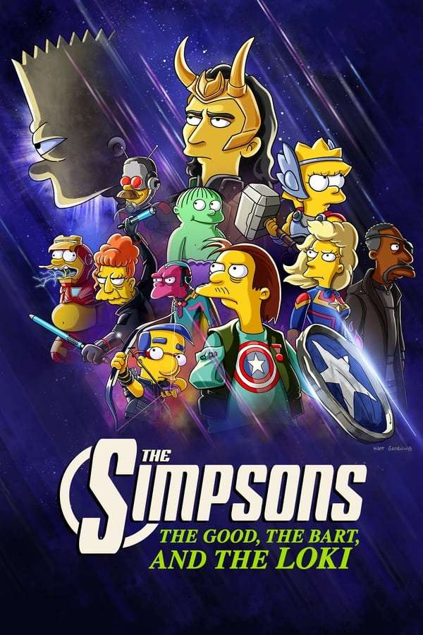 The Simpsons the Good, the Bart, and the Loki kapak