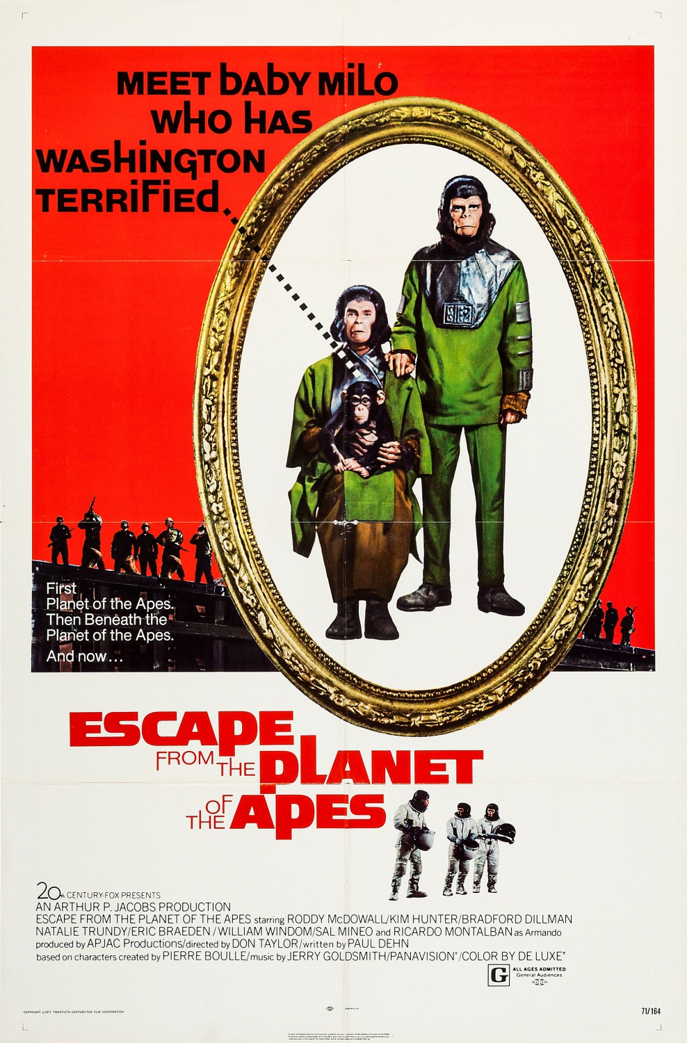 Escape from the Planet of the Apes kapak