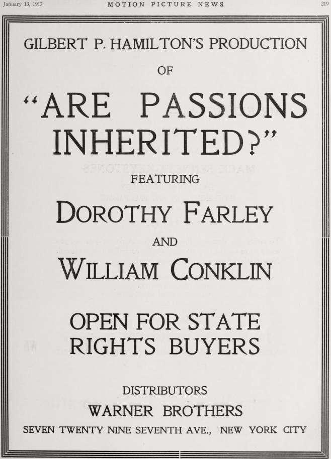 Inherited Passions kapak