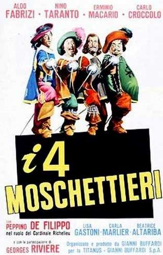 I quattro moschettieri kapak