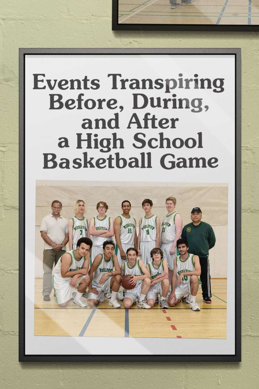 Events Transpiring Before, During, and After a High School Basketball Game kapak