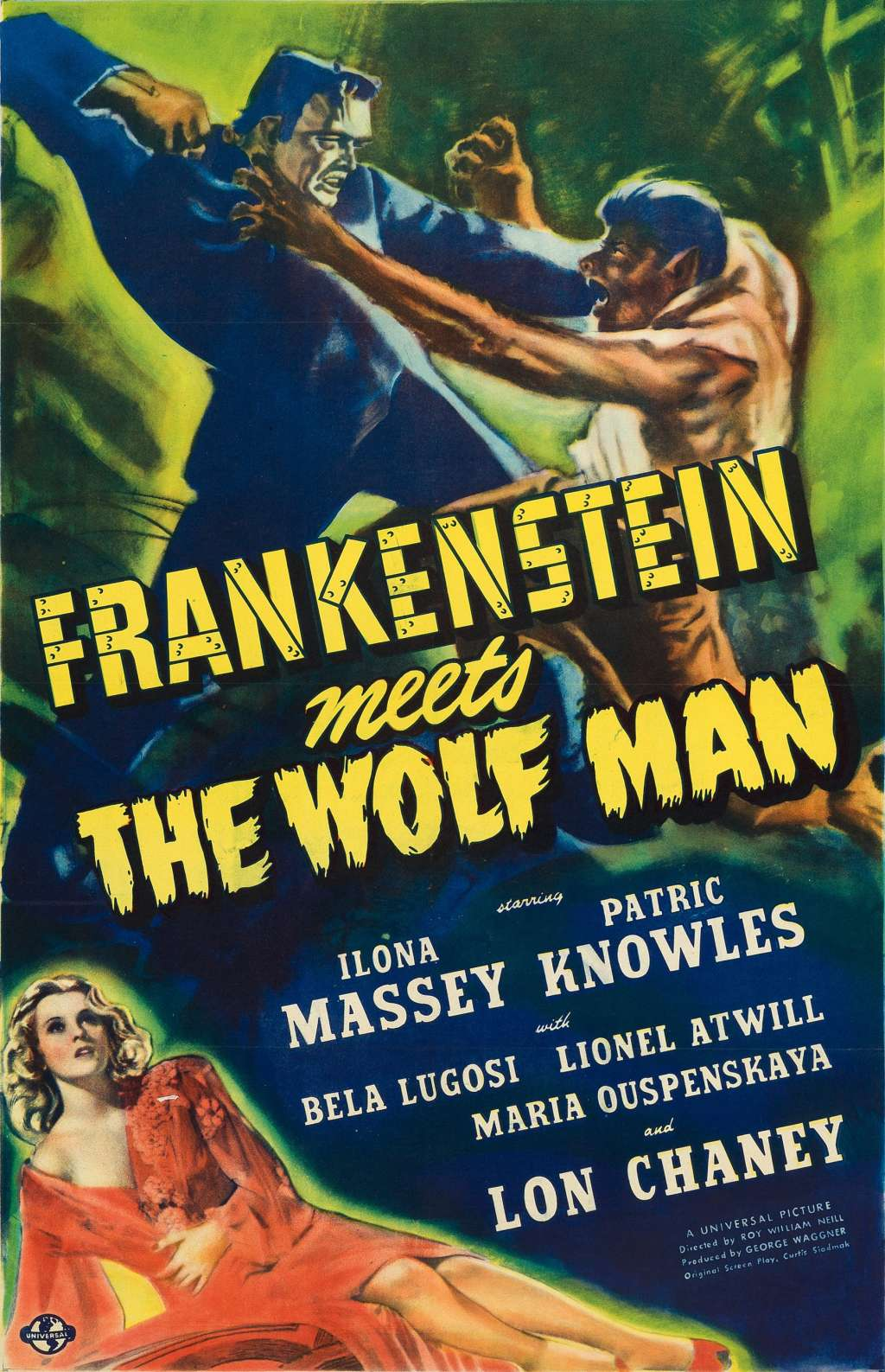 Frankenstein Meets the Wolf Man kapak
