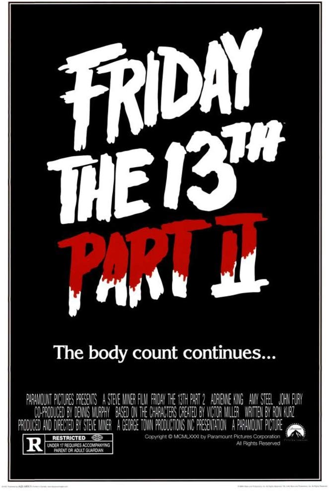 Friday the 13th Part 2 kapak