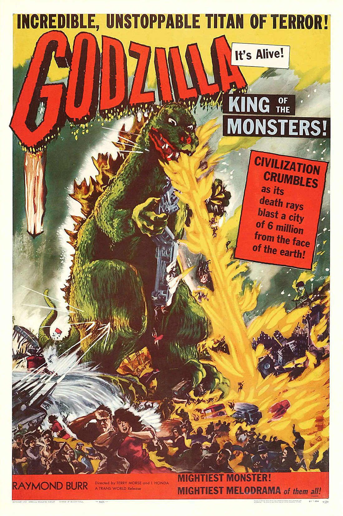 Godzilla, King of the Monsters! kapak