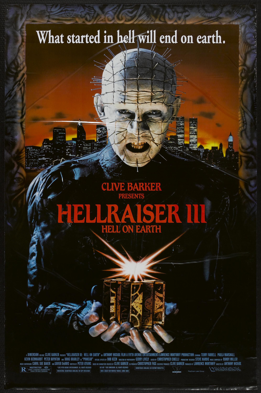 Hellraiser III: Hell on Earth kapak
