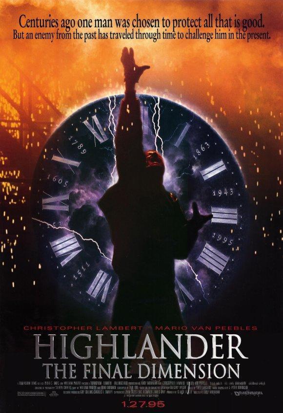 Highlander: The Final Dimension kapak