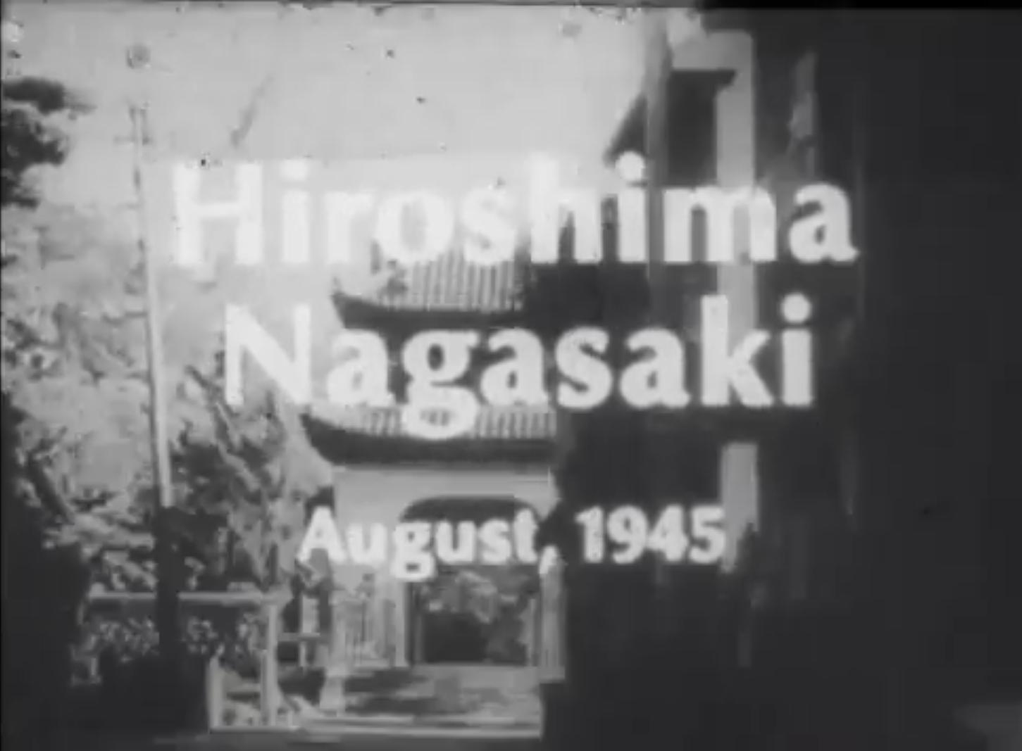 Hiroshima Nagasaki August, 1945 kapak
