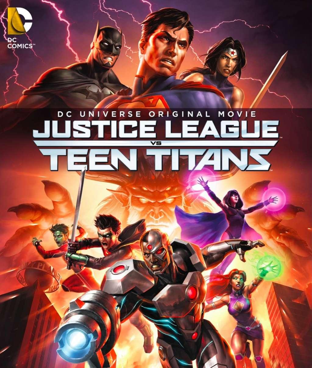 Justice League vs. Teen Titans kapak