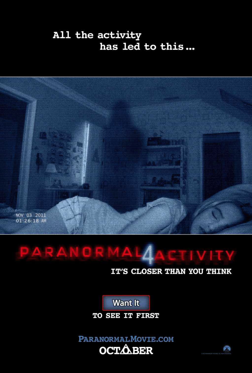 Paranormal Activity 4 kapak