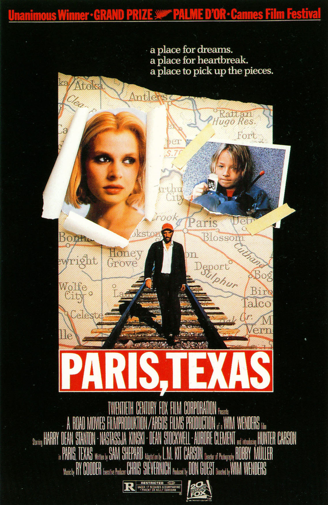 Paris, Texas kapak