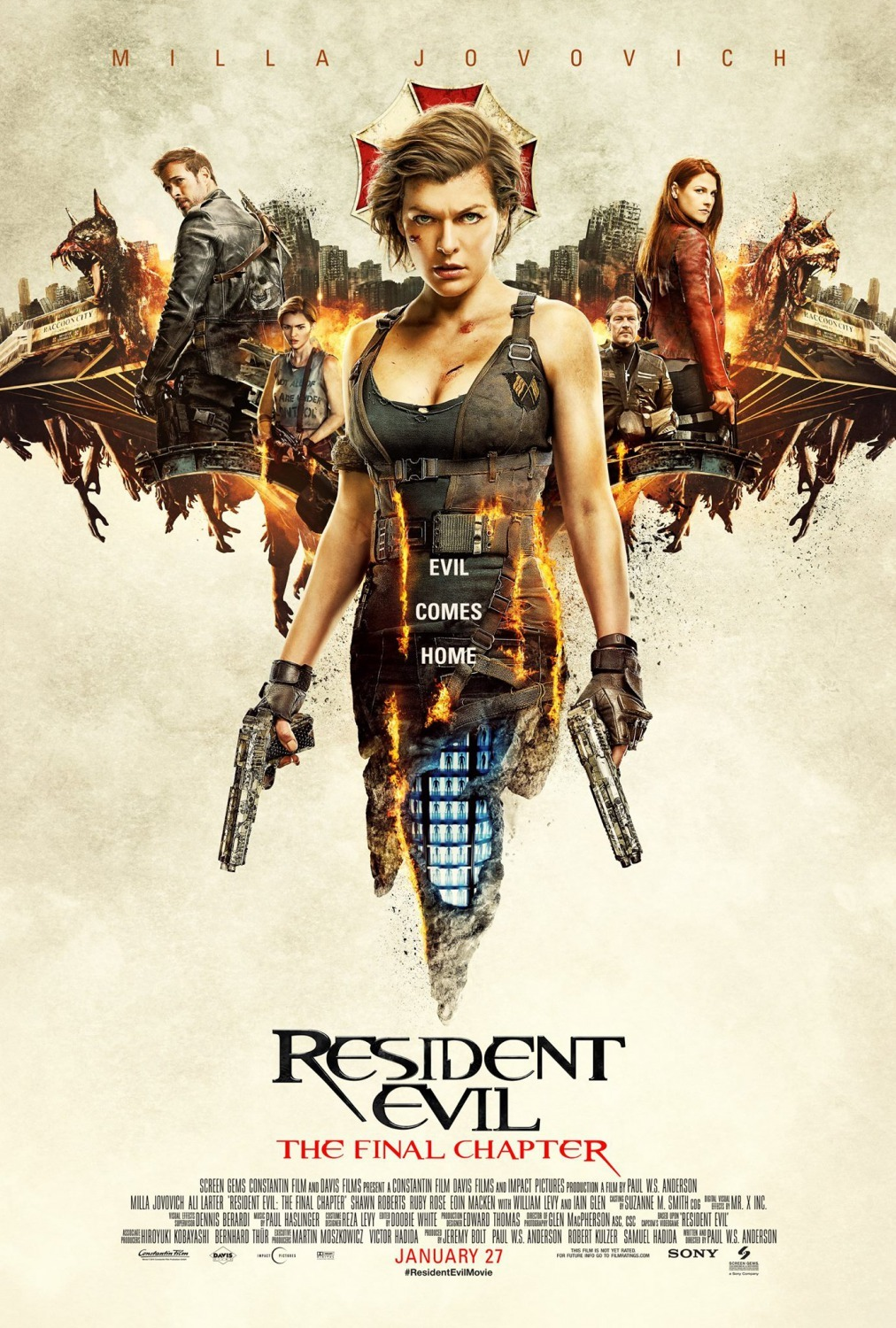 Resident Evil: The Final Chapter kapak
