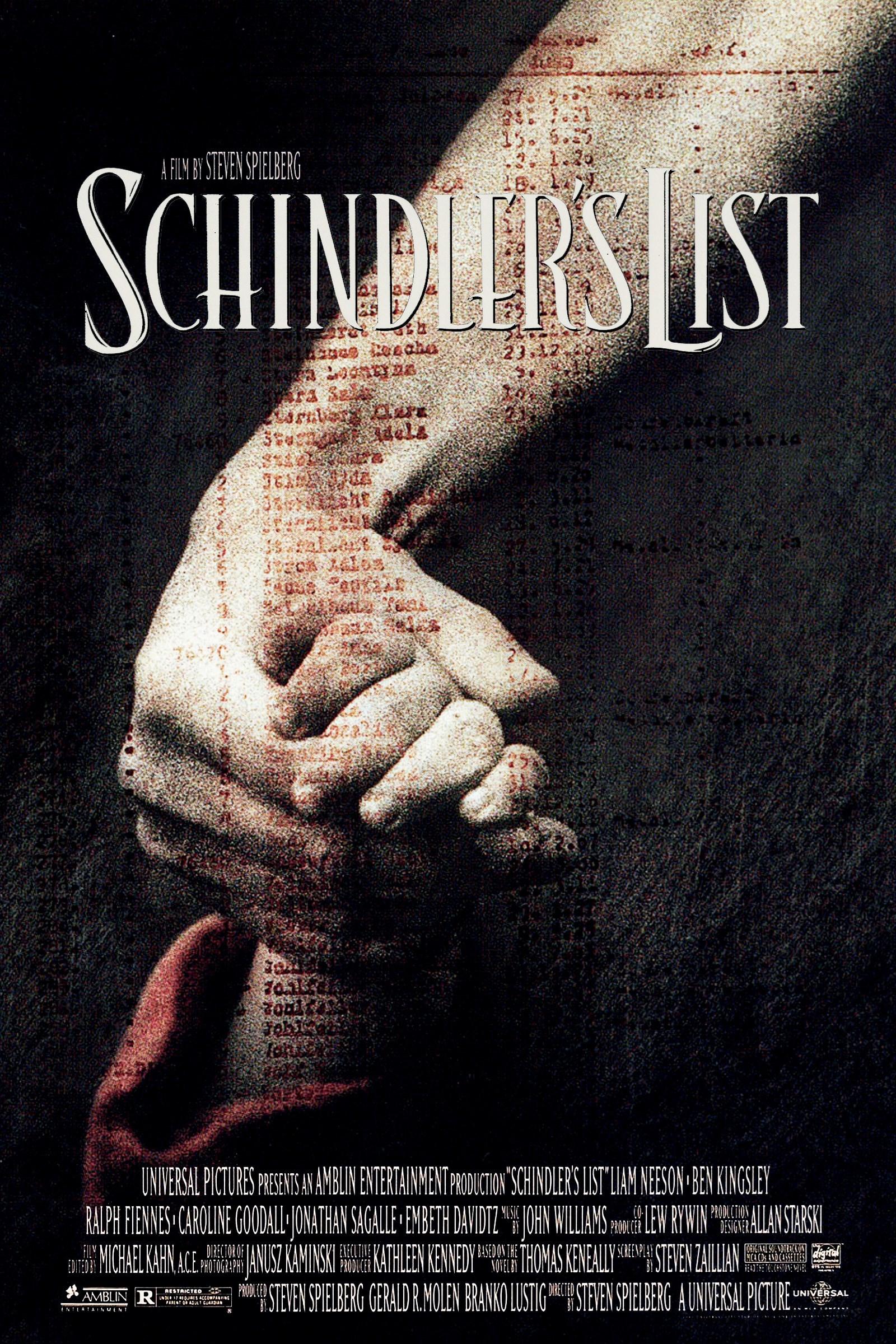 Schindler's List kapak