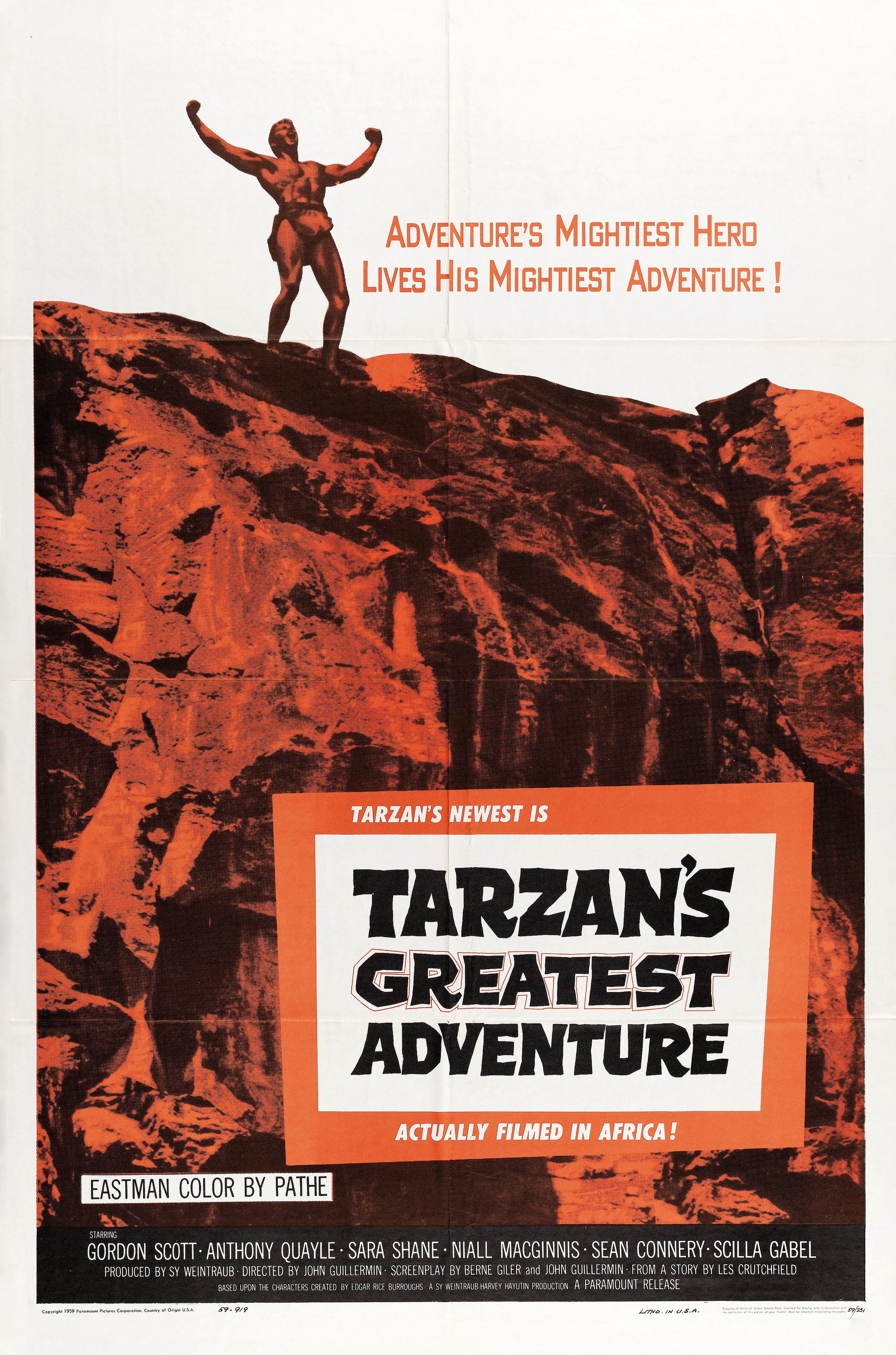 Tarzan's Greatest Adventure kapak