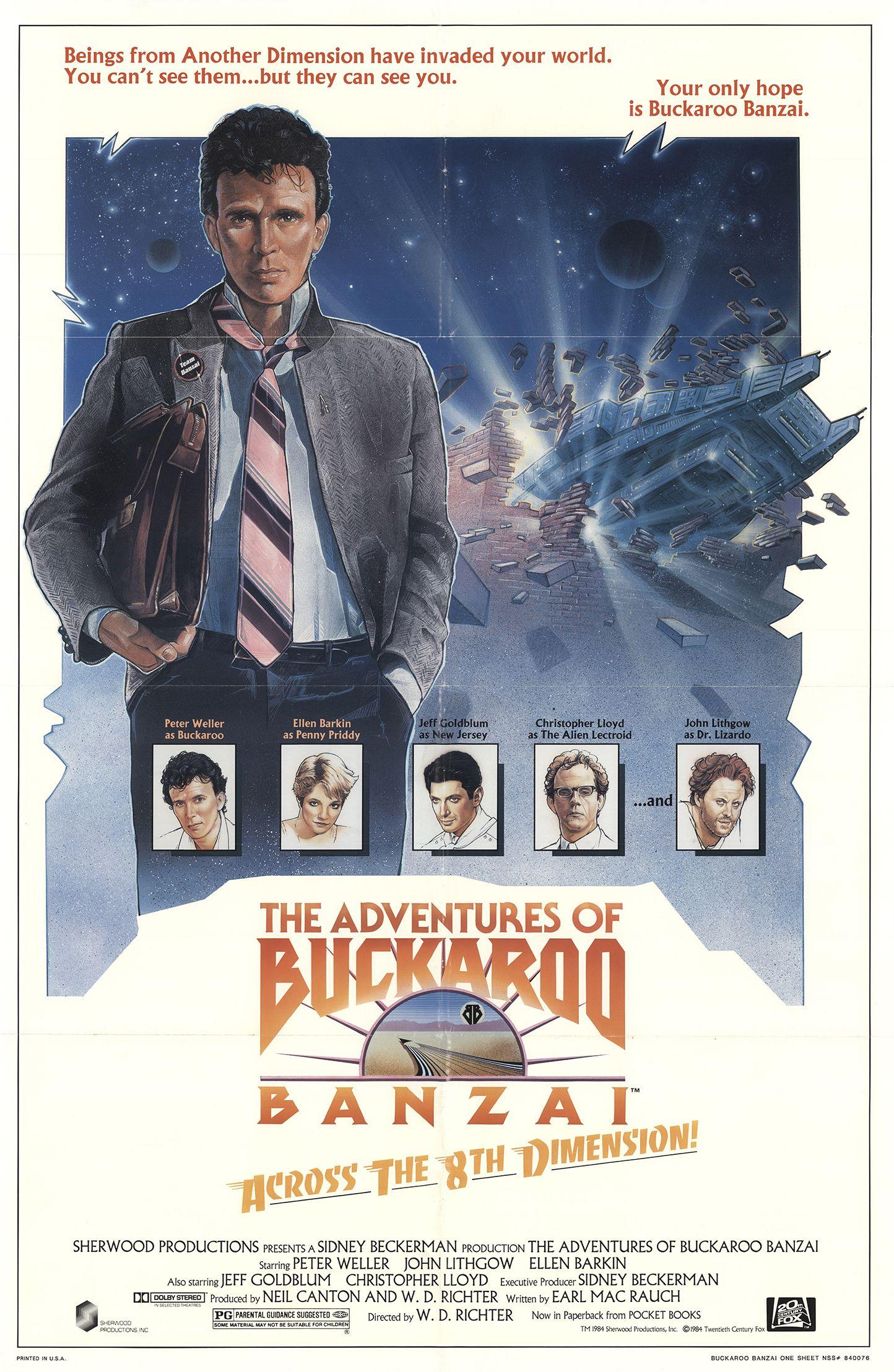 The Adventures of Buckaroo Banzai Across the 8th Dimension kapak