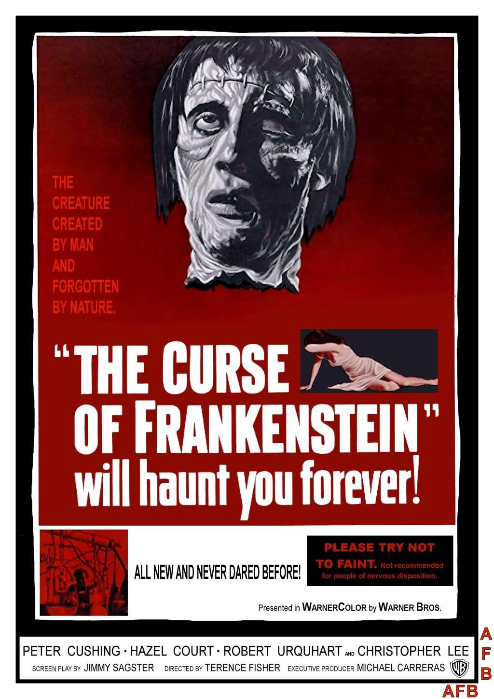 The Curse of Frankenstein kapak