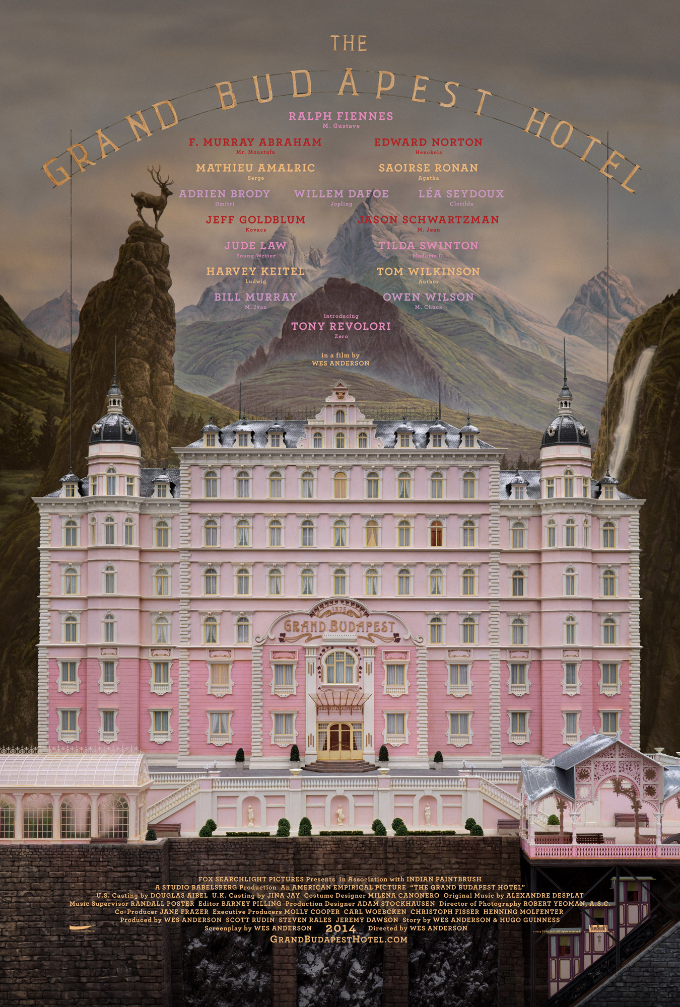 The Grand Budapest Hotel kapak