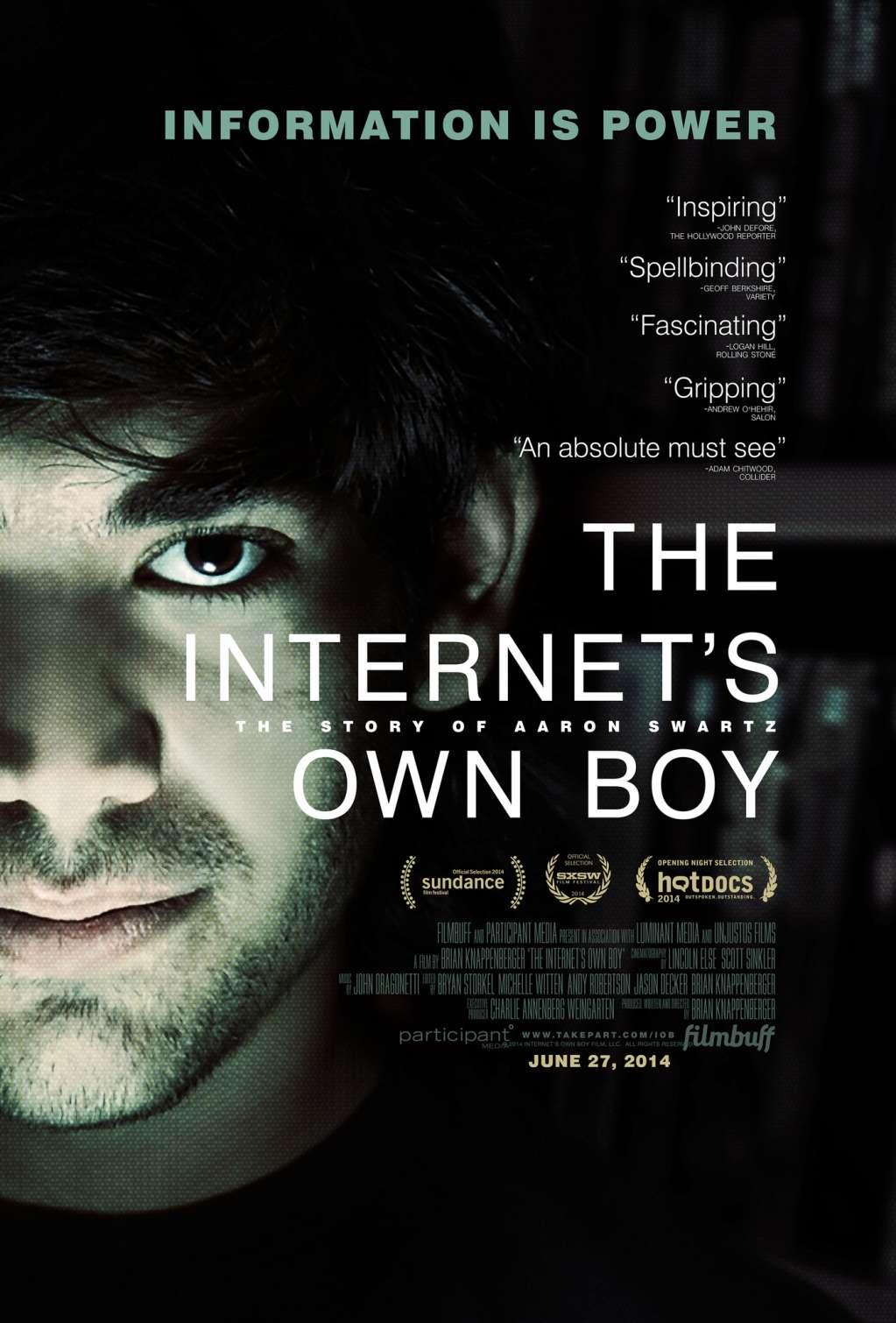 The Internet's Own Boy: The Story of Aaron Swartz kapak