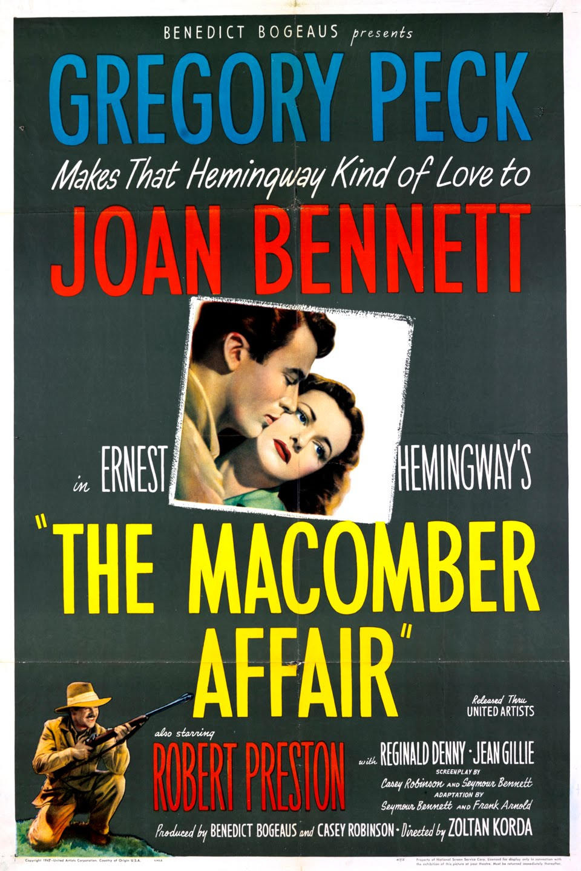 The Macomber Affair kapak