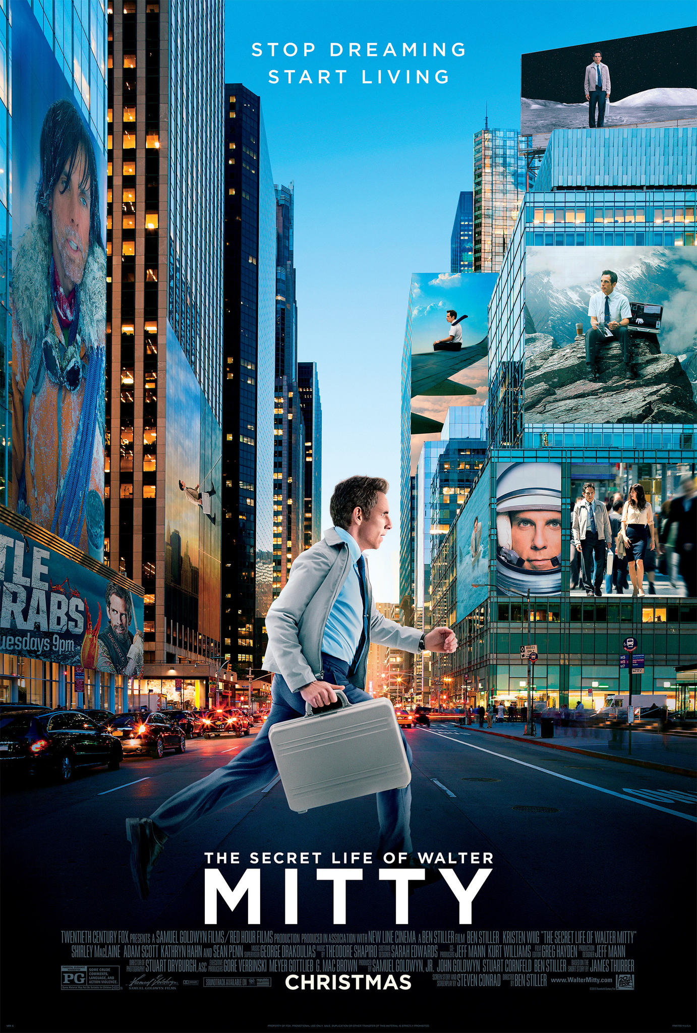 The Secret Life of Walter Mitty kapak