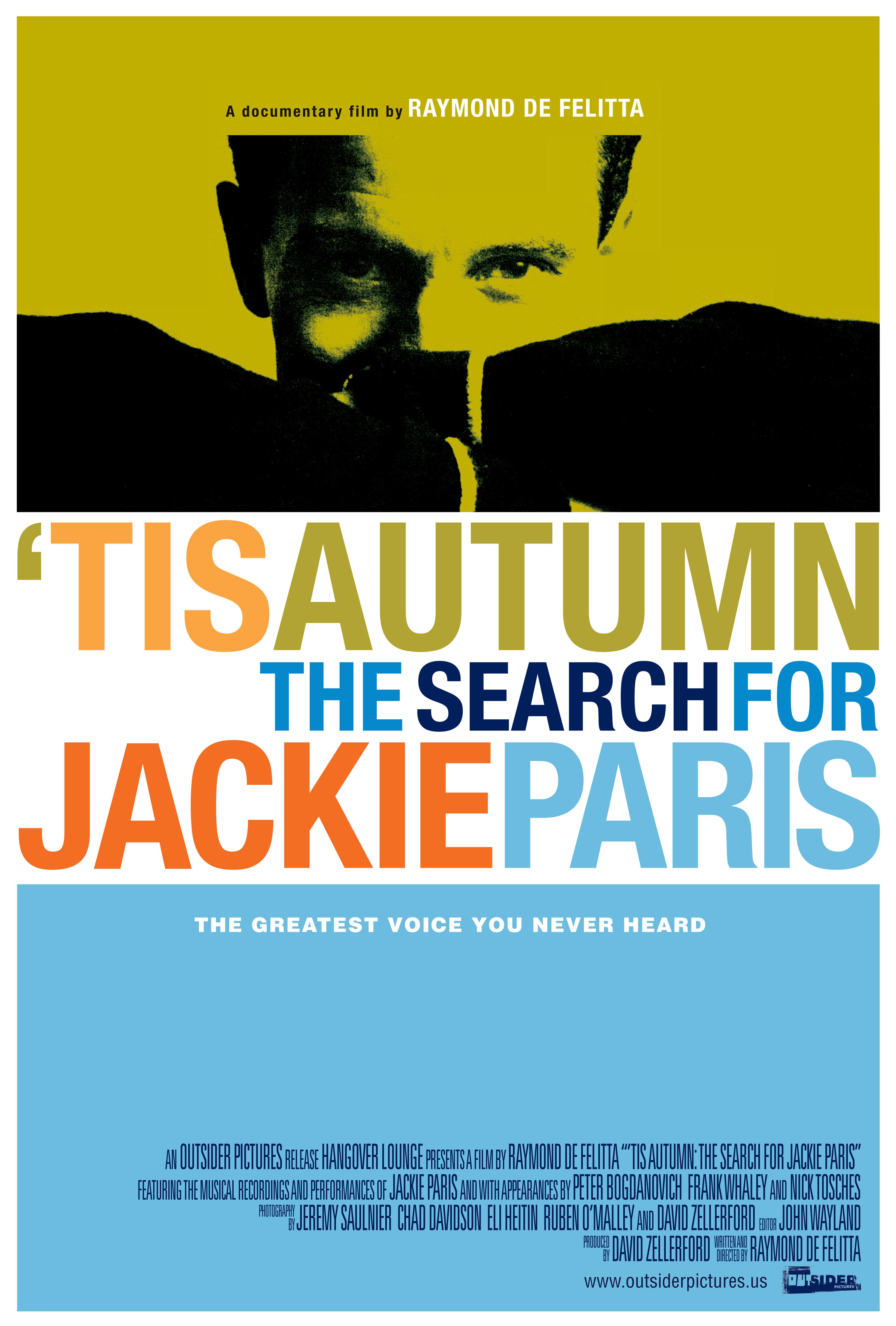 'Tis Autumn: The Search for Jackie Paris kapak