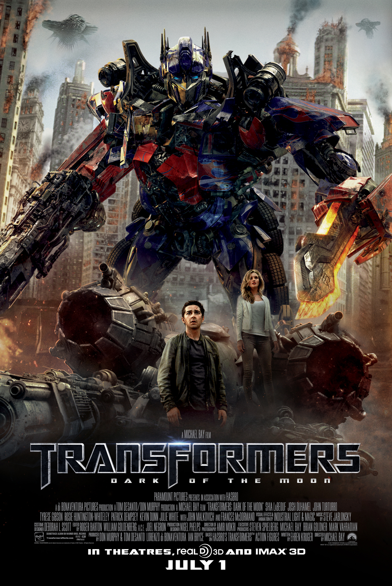 Transformers: Dark of the Moon kapak