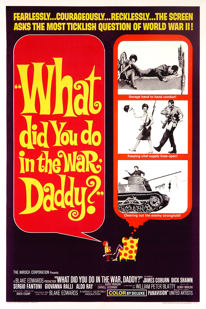What Did You Do in the War, Daddy? kapak