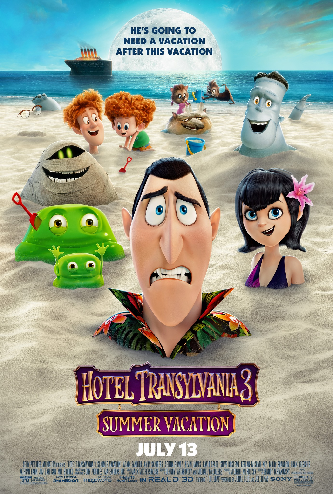 Hotel Transylvania 3: Summer Vacation kapak