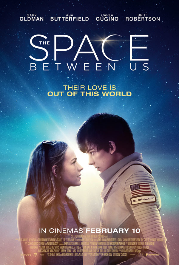 The Space Between Us kapak