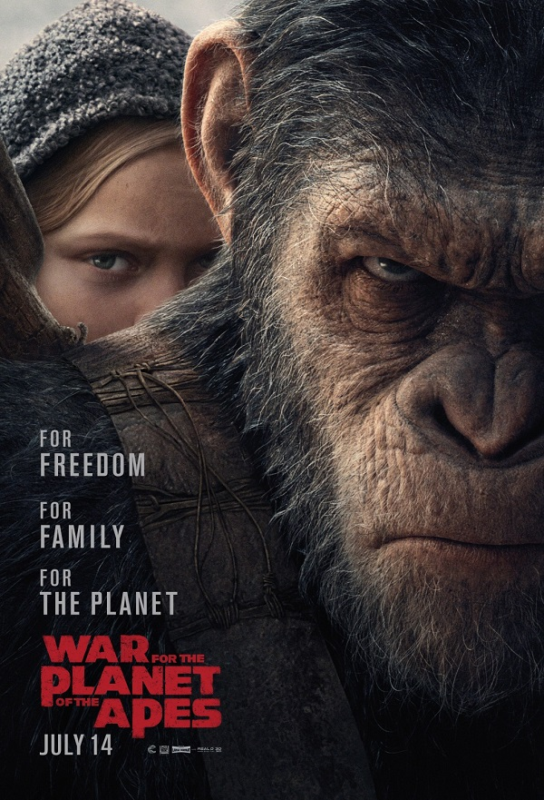 War for the Planet of the Apes kapak