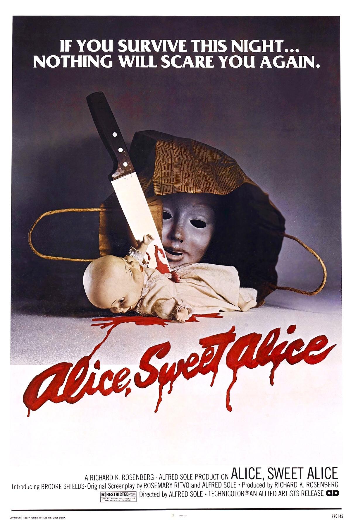 Alice, Sweet Alice kapak