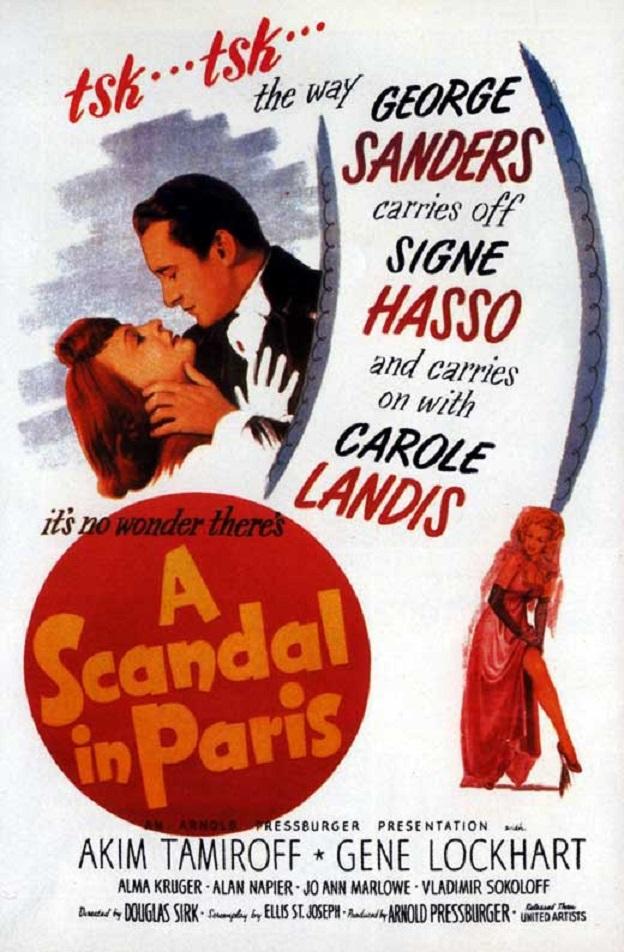 A Scandal in Paris kapak